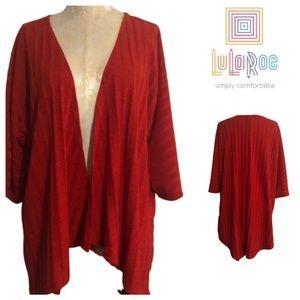 LuLaRoe Ribbed Open Cardigan Kimono